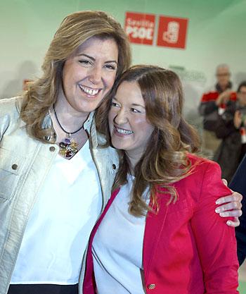 Susana Díaz (izda.) y Verónica Pérez. / EFE