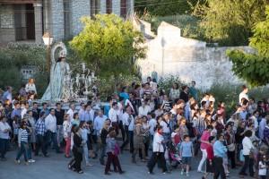 La Purísima durante el traslado a la parroquia de Nuestra Señora de las Nieves. Foto: Sebas Gallardo