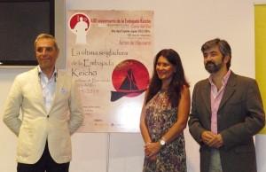 El cónsul honorario, la delegada de Turismo de Sanlúcar de Barrameda y el alcalde coriano.