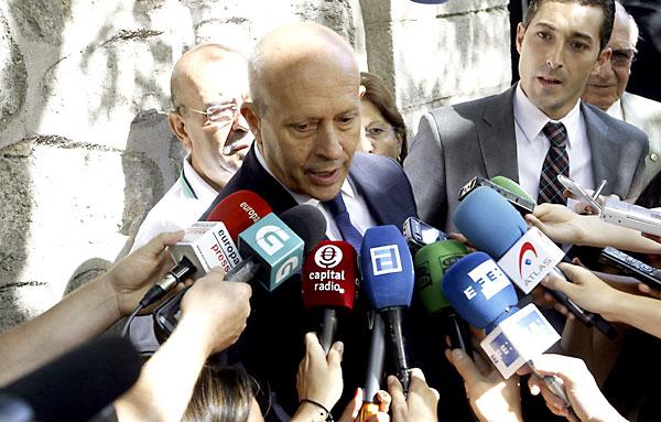 El ministro de Educación, Cultura y Deporte, José Ignacio Wert. / EFE