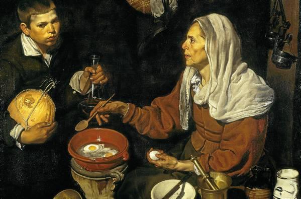 El cuadro de la Vieja friendo huevos acabó en los Países Bajos, donde fue subastado en 1810 para poner rumbo a Inglaterra. Se intentó hacer pasar por obra de Murillo. / El Correo