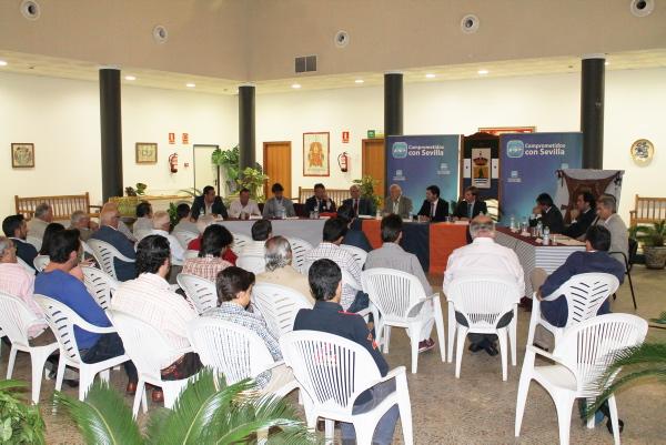 El ayuntamiento de la localidad ribereña acogió la reunión de los profesionales convocados por el PP. / El Correo