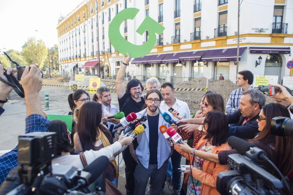 La plataforma ciudadana Ganemos concurrirá a las elecciones de mayo como Somos Sevilla. / Carlos Hernández