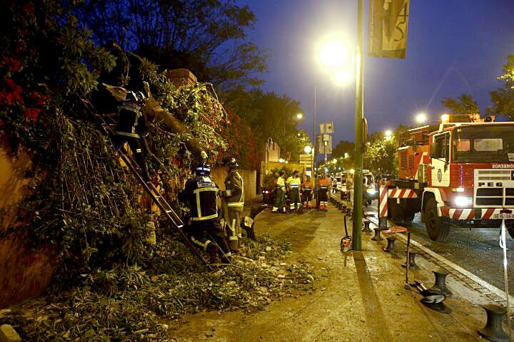omberos, la Policía Local y también la Policía Autonómica acudieron al lugar. / Carlos Hernández