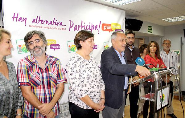 IU-CA Sevilla anuncia en rueda de prensa los resultados. / El Correo