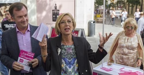 ROSA DÍEZ PRESENTA CAMPAÑA CONTRA CORRUPCIÓN EN SEVILLA