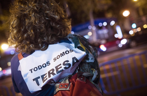 MANIFESTACIÓN EN LA CALLE GÉNOVA DE MADRID
