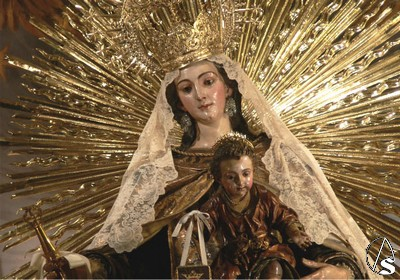 Virgen Carmen Santo ángel arte sacro