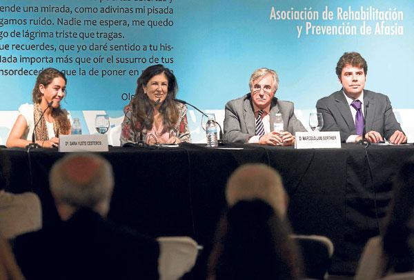 Sara Yuste, Chary Maldonado, Marcelo Luis Berthier e Iñaki Alonso en la clausura del encuentro. / J.M. Paisano