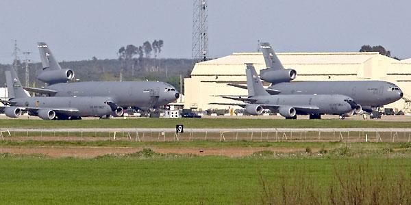 Aviones cisterna de la fuerza aérea de los Estados Unidos. / EFE