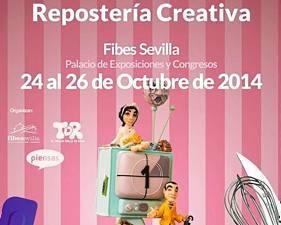 Cartel de la Feria de Repostería Creativa que se celebra en Fibes.