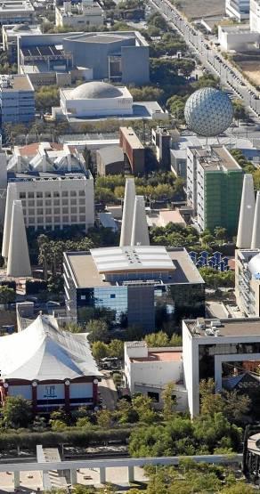 Vista aérea del parque científico y tecnológico Cartuja. / El Correo