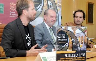 Fernando Rodríguez Villalobos (c), junto a Alfonso Sánchez y Alberto López. / El Correo