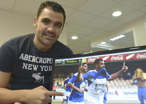 Sevilla 15/10/2014 reportaje a guille del jerez deportivo que celebra