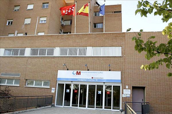 Hospital Carlos III de Madrid donde trabaja la enfermera infectada de ébola. / EFE