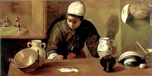 Detalle de la obra La mulata, de Velázquez, en la que se rastrea la influencia de la mano de obra negra en la época. / El Correo