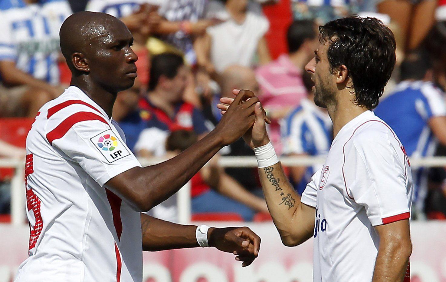 Mbia y Nico Pareja (Foto: Manuel Gómez).