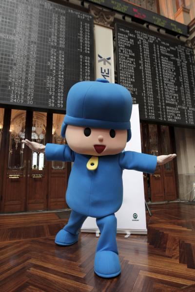 Pocoyó, el personaje de dibujos animados de Zinkia. / EFE