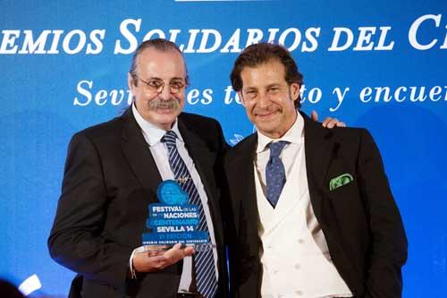 Pascual González ha sido uno de los premiados en esta edición de los premios solidarios. Foto: Pepo Herrera