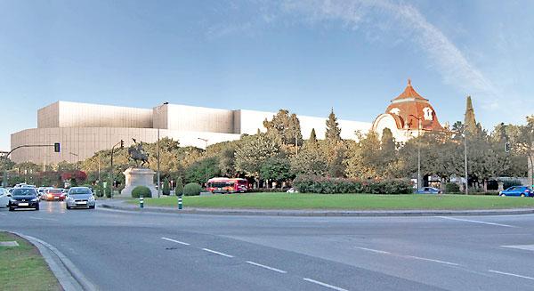 Una de las propuestas del Ayuntamiento para la Ciudad de la Justicia en el Prado. / El Correo