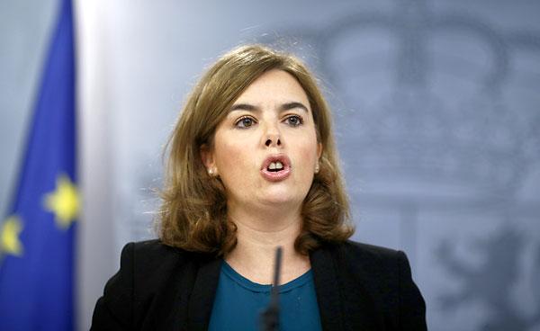 La vicepresidenta del Gobierno, Soraya Sáenz de Santamaría. / EFE