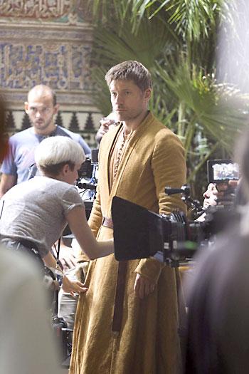 Un momento del rodaje en el Alcázar. / EFE