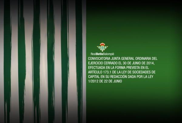 Convocatoria Junta Betis