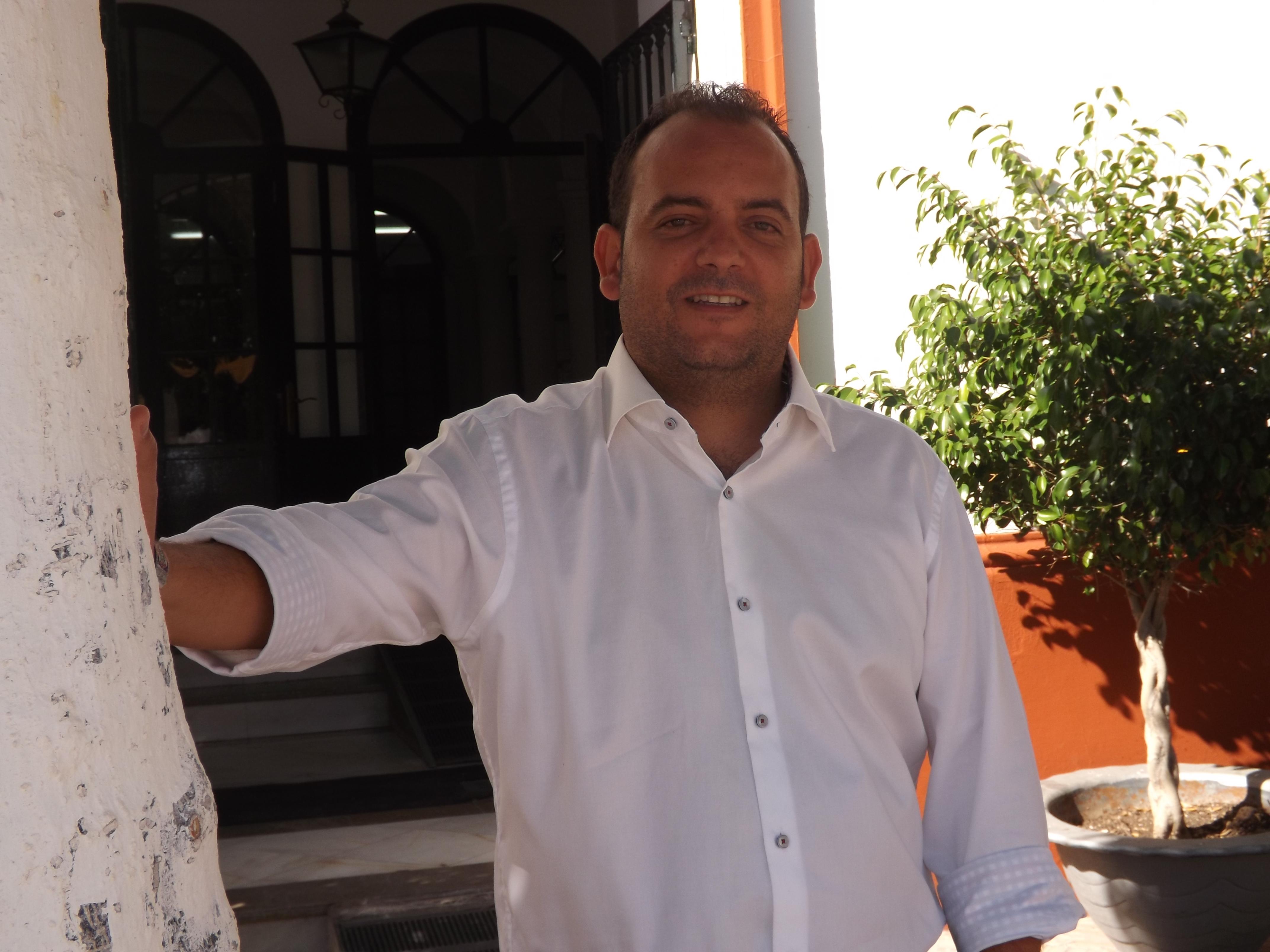 Diego Manuel Agüera volverá a presentar su candidatura para liderar el proyecto socialista en La Algaba. Foto: A. P.