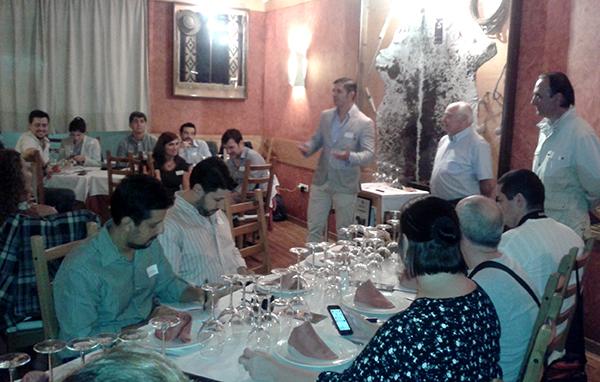 Presentación de los vinos en el restaurante Milongas. / J.C.