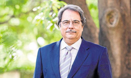 Eugenio Domínguez tomó posesión como recto de la UNIAel 1 de octubre de 2013 en San Telmo. / Carlos Hernández