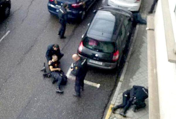Imagen de los heridos facilitada por la Unión Federal de Policía.