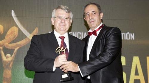 Momento de la entrega del premio Andalucía Excelente 2014.