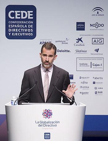 El rey Felipe VI durante su intervención. / Pepo Herrera