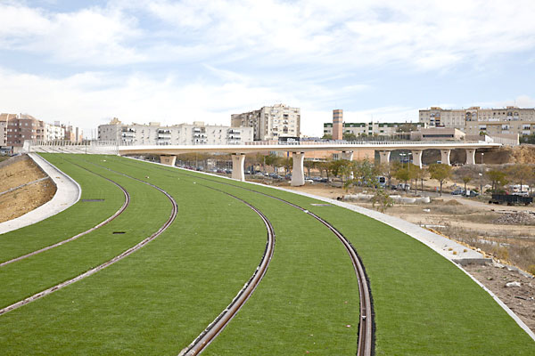 El proyecto del tranvía de Alcalá de Guadaíra lleva años paralizados al 80 por ciento de ejecución.