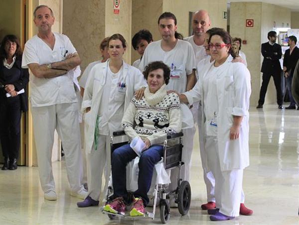 Teresa Romero salida hospital