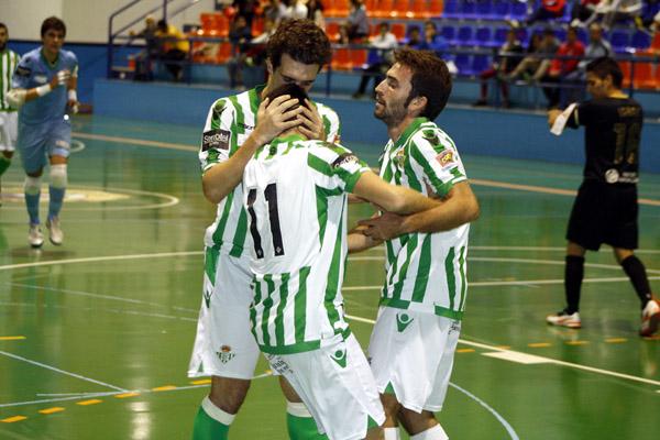 Los jugadores verdiblancos celebran uno de los goles del partido entre el UD Coin FS-Real Betis FSN- Foto: FSNRBB.