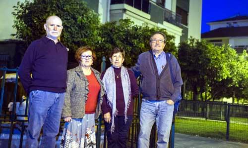 De izquierda a derecha: Bernabé Barrera, Toñi Vidal, Chari Cáceres y Antonio Muñoz. Foto: Carlos Hernández