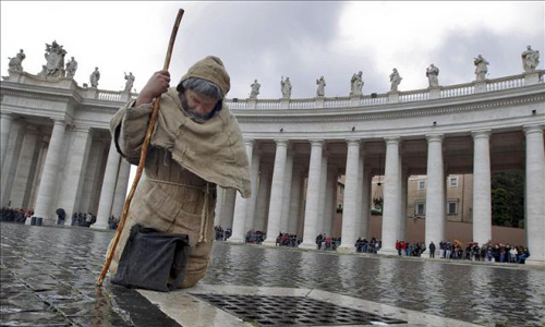 Vaticano peregrino columnata