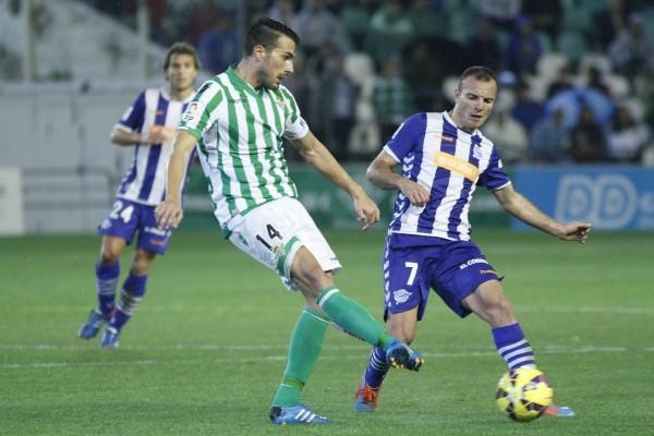 Xavi Torres, en el Betis-Alavés de esta  temporada / Manuel Gómez