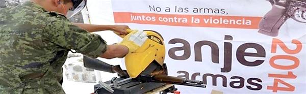 Campaña 'Canje de armas 2014' en Chiapas (México). / E.P.