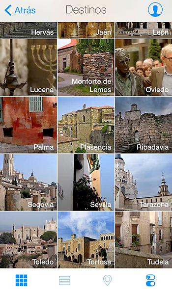 La app recoge las 24 juderías en España que componen la red.