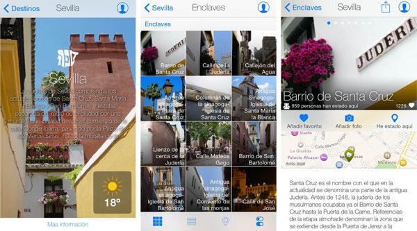 Imágenes de la app.