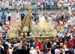 La Macarena presidió en el Olímpico la beatificación de Madre María de la Purísima en 2010. / Javier Díaz