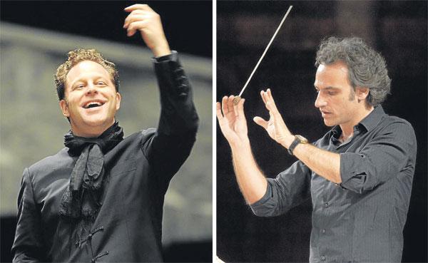 John Axelrod (izda. Houston, 1966) dirigirá la Sinfónica de Sevilla Y Pedro Halffter continuará como director del Maestranza. / EFE