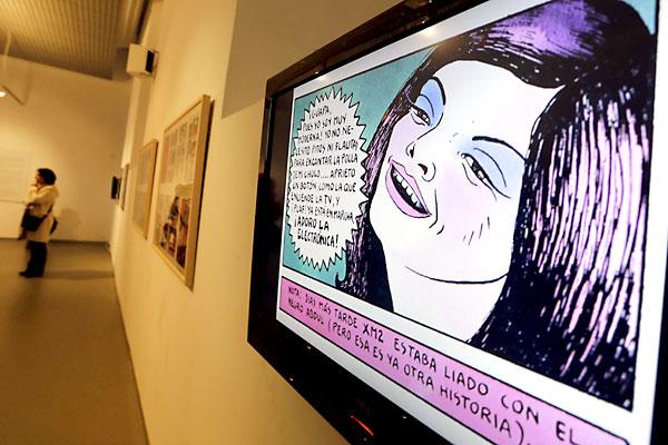 Inauguracion de la exposicion Tarandut, del dibujante de comic Nazario. / Pepo Herrera