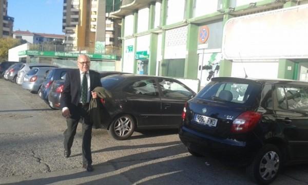 Juan Carlos Ollero, esta tarde en el Benito Villamarín / Juan Pinto