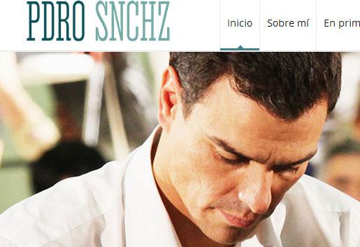 Imagen de la web de Pedro Sánchez. / El Correo