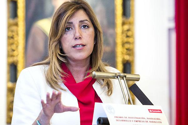 Susana Díaz, presidenta de la Junta de Andalucía. / Carlos Hernández