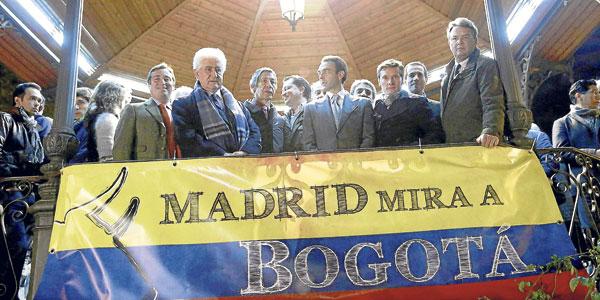 Ponce y Carlos Núñez estuvieron presentes en la cita de apoyo que se convocó en Madrid. / Zipi (EFE)