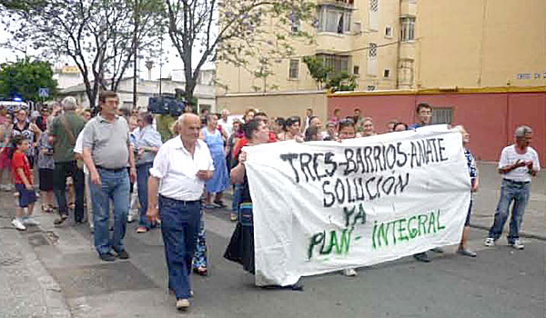Una de las protestas de la plataforma. / El Correo